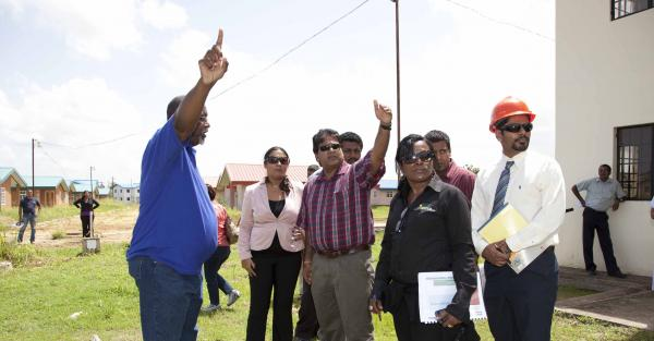 Minister Moonilal tours HDC projects in Couva | Trinidad and Tobago